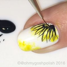 NEW TUTORIAL IS LIVE ON MY #YOUTUBE CHANNEL!! LINK IN MY BIO.    Oh Don't ya just love when @picturepolish comes out with new shades. This beauty is called #Sunflower and it was created in collaboration with @de_briz . Also used #PicturePolish Bright White. Song is Better When I'm Dancing by Meghan Trainor .