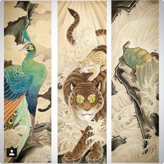 @joel_ang_8voltstattoo made these paintings he did as prints available through @kintaro_publishing go check them out and buy one or all of them!!! Great art by great people! #japansecollective #japanesetattoo #irezumi #painting #prints #tattoomasters by japanesecollective