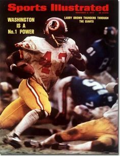 Click the button below to add the Sports Illustrated Magazine November 6  1972 Larry Brown Washington Redskins to your wish list. 5dcb3af27