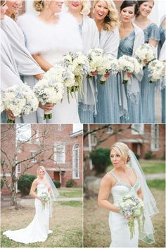 Love these winter wedding bouquets by @LisaFosterFD!  Photography by @jophotos