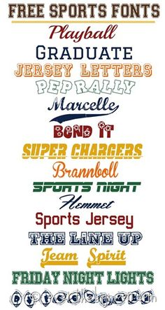 Fabulously SPORTS fonts thumb Free Sports Fonts