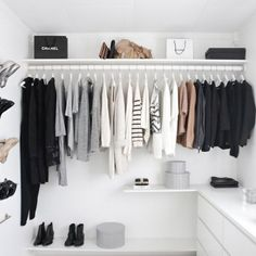 A stylish, organised wardrobe is one of life's simple pleasures, but when you're short on room - and have far too many clothes for your closet – making your wardrobe a design feature can be tricky. But you don't have to have the biggest of boudoirs to create a cool closet, with a few clever tips and tricks you can turn your wardrobe into a stylish space no matter the size. From styled up hanging rails to creative curtain tricks, here's how to give your wardrobe ultimate staying power…
