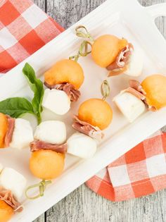 These sweet and salty Prosciutto and Melon Skewers are simple, tasty bites for any spring party. Plus they look so darn pretty on the buffet table.