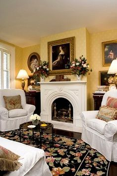 images of cozy english floral living rooms - Google Search