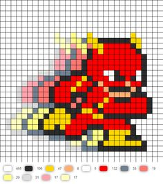 Flash Running Perler Bead Pattern