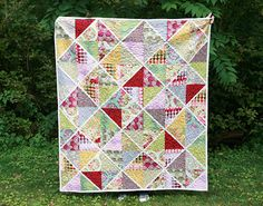 Parisville Quilt - made with fat quarters.  Instructions included in the post.