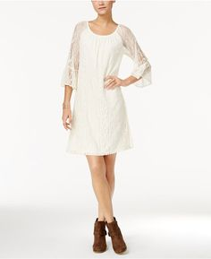 Style & Co Off-The-Shoulder Lace Dress, Only at Macy's