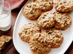 Recipe of the Day: Ina's Nutty Oatmeal Cookies         Ina's top-rated cookies are loaded with raisins, toasted pecans and oatmeal. Spoiler alert: They're completely irresistible.