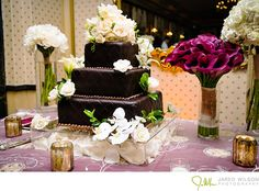 Textural #chocolate brown wedding cake