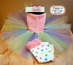 Girls Easter Dress Set//Easter Tutu Dress by PeppersPinkChair