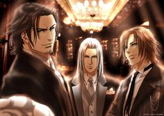 A trio of fine men in suits