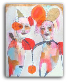 Solidarity  Original Painting Raw Art Illustration Portrait by ChristinaRomeo, $185.00