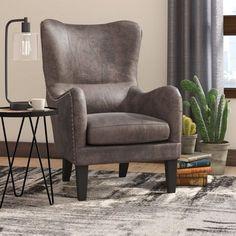 Rockport Hi-Back Studded Wingback Chair