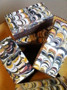 This Fall Soap from Chrissy B Soap is absolutely gorgeous. I love the color palette, and Arabian Spice, the fragrance oil she used, has such a warm, sensuous scent.