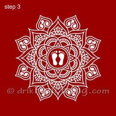Lakshmi Pada Rangoli Step 3