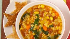 Easy Alphabet Soup - Recipes - Best Recipes Ever - Kids love soup and reciting the alphabet - and we love this lower-sodium version of the canned stuff that we enjoyed in our youth. Chowder Recipes, Soup Recipes, Cooking Recipes, Kid Recipes, Yummy Recipes, Soups For Kids, Kids Meals, Canadian Living Recipes, Alphabet Soup