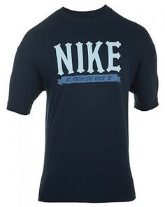 NIKE MEN'S T-SHIRT ACTIVE  Mens T-Shirts 504902-451 BLACK/BLUE SZ-XL