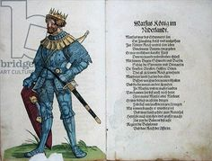 Marcus, King of the Netherlands, from 'The Origin of the First Twelve Old Kings and Princes of the German Nation', 1543