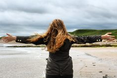 Music video shoot at Alnwick Beach with actress Bridget Gallagher