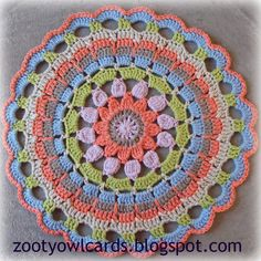 Dahlia Mandala:  Pattern