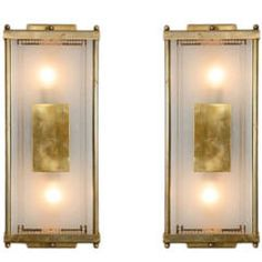 1940s Italian Rectangular Wall Lights