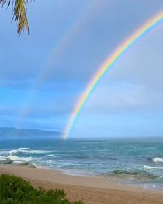 Have you ever wondered what's on the other side of the rainbow? These two videos reveal a stunning full rainbow in their entirety, one from many stories up and the other from the beach. Beautiful Beach Pictures, Beautiful Photos Of Nature, Beautiful Nature Wallpaper, Beautiful Places To Travel, Nature Pictures, Amazing Nature, Beautiful Beaches, Beautiful Landscapes, Relaxing Pictures