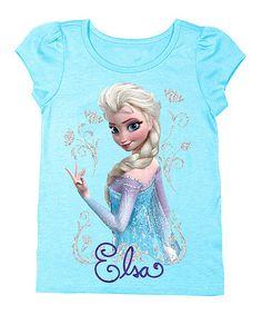 Look at this #zulilyfind! Light Blue Frozen 'Elsa' Tee - Toddler by Frozen #zulilyfinds $6.99, regular 20.00