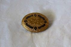 Antique Collar Gold Brooch Pin by MargsMostlyVintage on Etsy, $21.00
