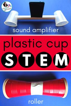 Simple STEM with Plastic Cups - Design and create a sound amplifier, an anemometer, a roller, and more. Senses Activities, Steam Activities, Science Activities For Kids, Science Experiments, Science Lessons, Science Ideas, Engineering Projects, Stem Projects, Science Projects