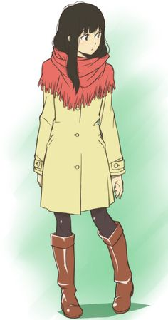 *grins* Reminds me of the first time I saw DD. She was actually wearing a similar coat. O_O