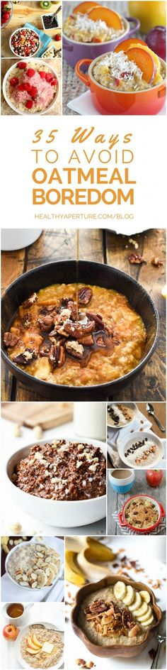 Don't settle for a boring bowl of oatmeal! Try these 35 healthy oatmeal recipes to make breakfast more exciting.