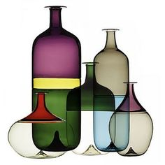 Bolle vases by Venini