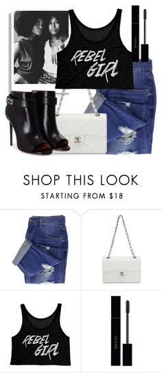 """White bag"" by apduyer ❤ liked on Polyvore featuring Chanel, Gucci and Givenchy"