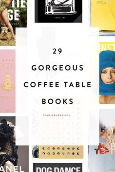 29 gorgeous coffee table books