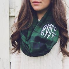 Monogrammed @bowsandkites scarf {use code belleoftheball45 for 15% off }