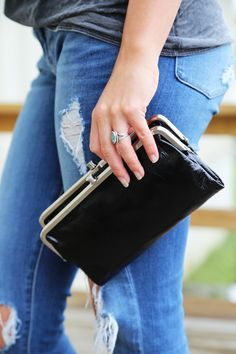 Black Hobo Wallet
