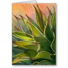 Agave watercolor notecard $3.15