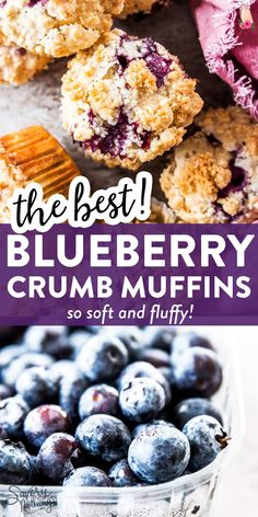 If you're in search for a recipe for blueberry muffins you'll make again and again - look no further. Learn how to make the best blueberry muffins here: Blueberry Crumb Muffins, Homemade Blueberry Muffins, Blueberry Recipes, Blue Berry Muffins, Best Healthy Blueberry Muffin Recipe, Easy Brunch Recipes, Good Food, Yummy Food, Morning Food