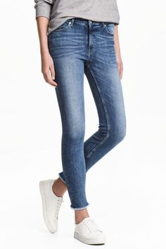 Slim Regular Ankle Jeans - Niebieski denim - ONA | H&M 149.90
