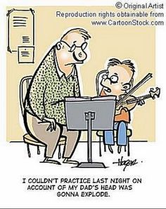 Music humor, Practicing excuses.