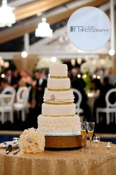 Susan & Steve's New Year's Wedding Cake by Sunset Hills Country Club in Carrollton, GA Wedding Vendors, Wedding Reception, Wedding Cakes, New Years Wedding, Vanilla Cake, Club, Sunset, Country, Wedding Gown Cakes