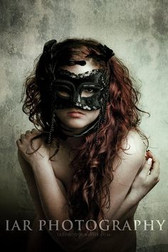 Z402 - Black Mask - Grunge - Fine Art  Nude Photo Print 8x12 via Etsy