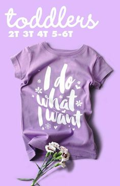 For the independent toddler princess who does what she wants, when she wants. Wry Baby, known for their hilarious baby clothing, books and accessories, has sprouted a new line of toddler t-shirts that
