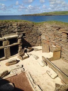 Skara Brae in Kirkwall, Orkney Islands