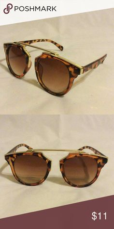 Women sunglasses Brown leopard frame and brown lenses Accessories Sunglasses