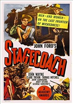 Fantastic A4 Glossy Print - 'Stagecoach' (1939) - Taken From A Rare Vintage Movie / Film Poster (Vintage Movie / Film Posters)