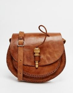 Hiptipico Leather Saddle Bag with Peg Fastening Saved Items 2b8ffe24751e0
