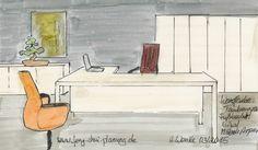 Farbgestaltung in Büroräumen
