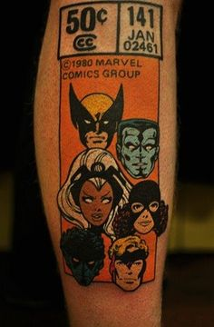 Marvel Heroes Tattoo