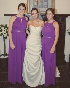 Sarah and her bridesmaids  As featured on http://www.mrspandp.com/real-wedding-features/an-elegant-nottingham-wedding-at-goosedale-with-beautiful-accents-of-cadbury-purple/  An elegant Nottingham Wedding at Goosedale with beautiful accents of Cadbury purple